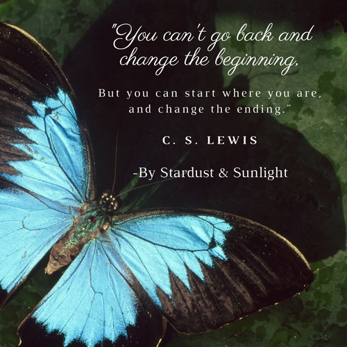 _You can't go back and change the beginning,