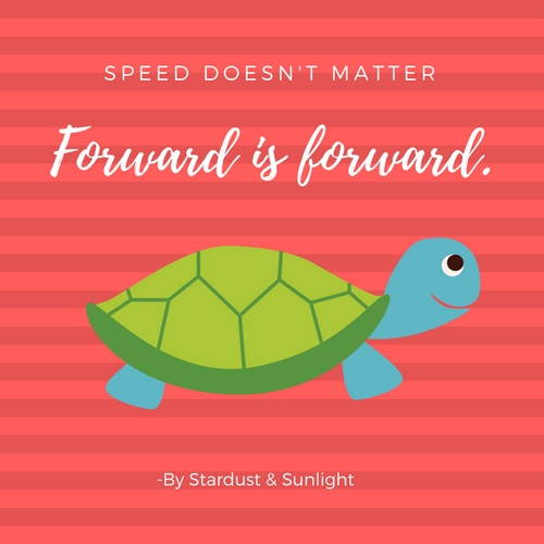 Day 58- speed doesn't matter, forward is forward.jpg