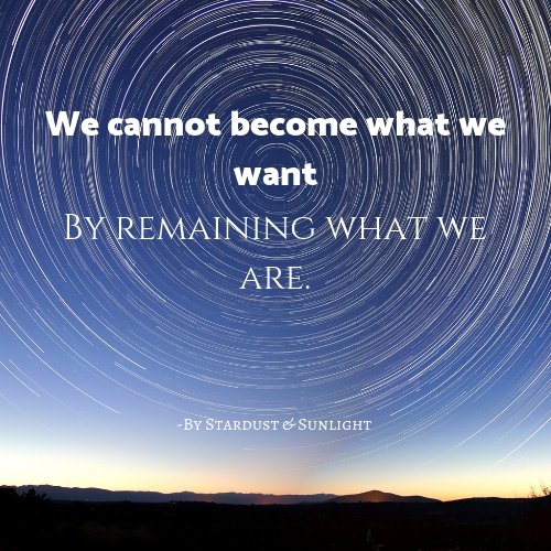 We cannot become what we want by Stardust & Sunlight